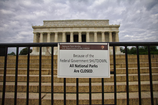 US Government Shutdown - Lincoln Memorial