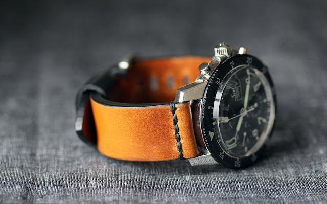 Worn & Wound Model 1 Horween Rye watch strap