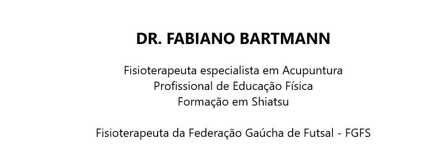 Dr. Fabiano Bartmann - Fisioterapeuta especialista em Acupuntura e Shiatsu