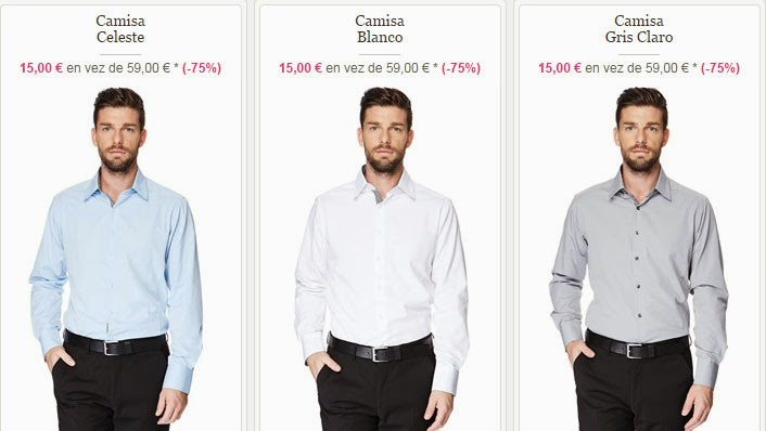 Ejemplos de camisas de vestir de Torrente para hombre por sólo 15 euros