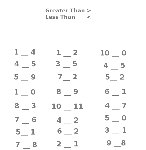 """Search Results for """"Greater Than Less Than Worksheet ..."""