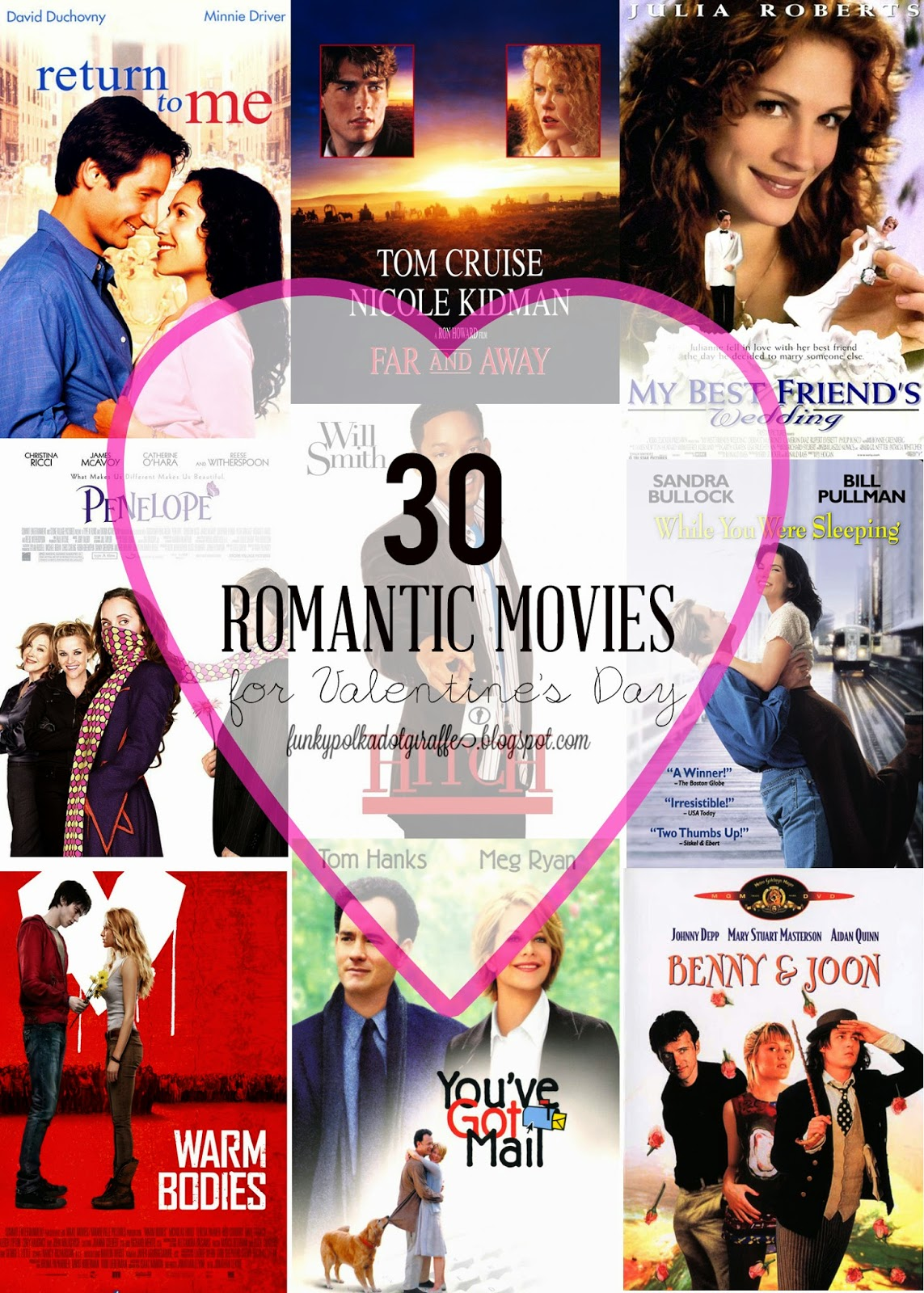 funky polkadot giraffe: 30 romantic movies to watch for, Ideas