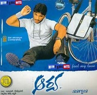 Download Allu Arjun's Aarya 2004 Telugu Mp3 Songs Here :