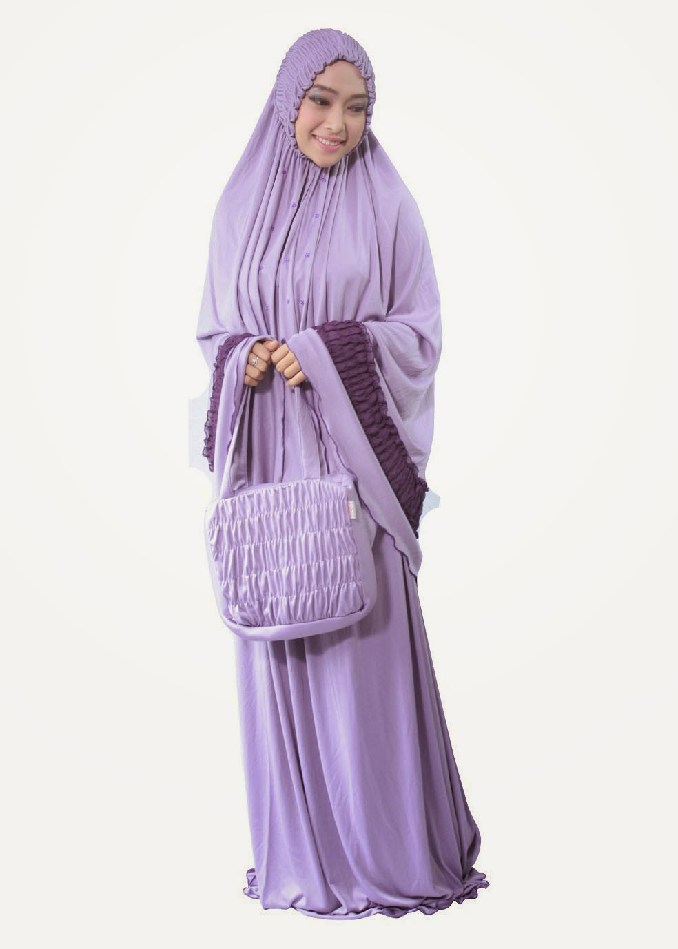 Mukena Terbaru 2014 Smock Lavender
