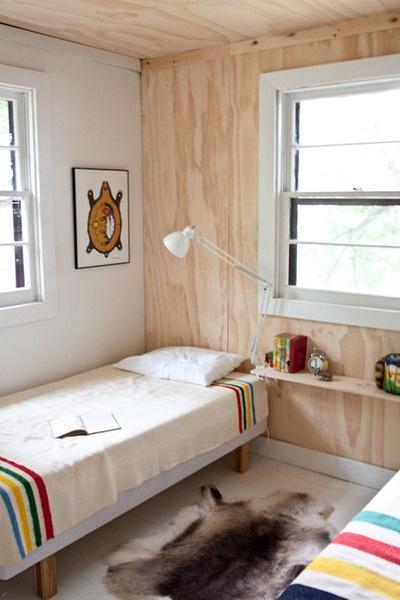Habitación forrada de madera