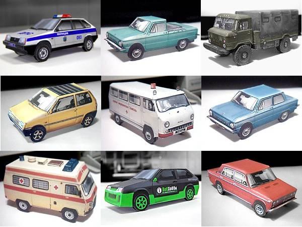 jackpot of papercraft russian cars is the work of vlad tarnavsky vlad