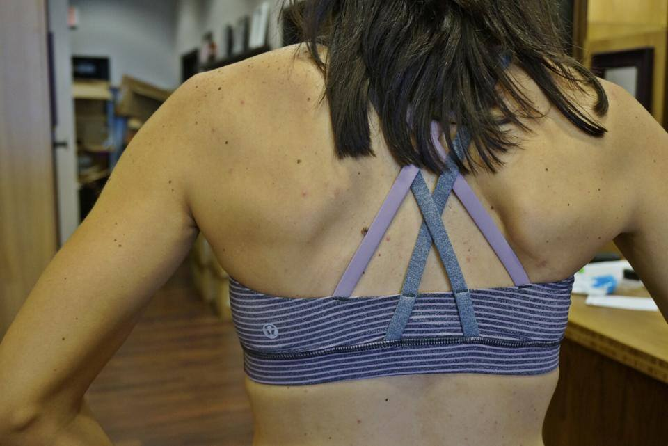 lululemon hyperstripe mauvelous energy bra