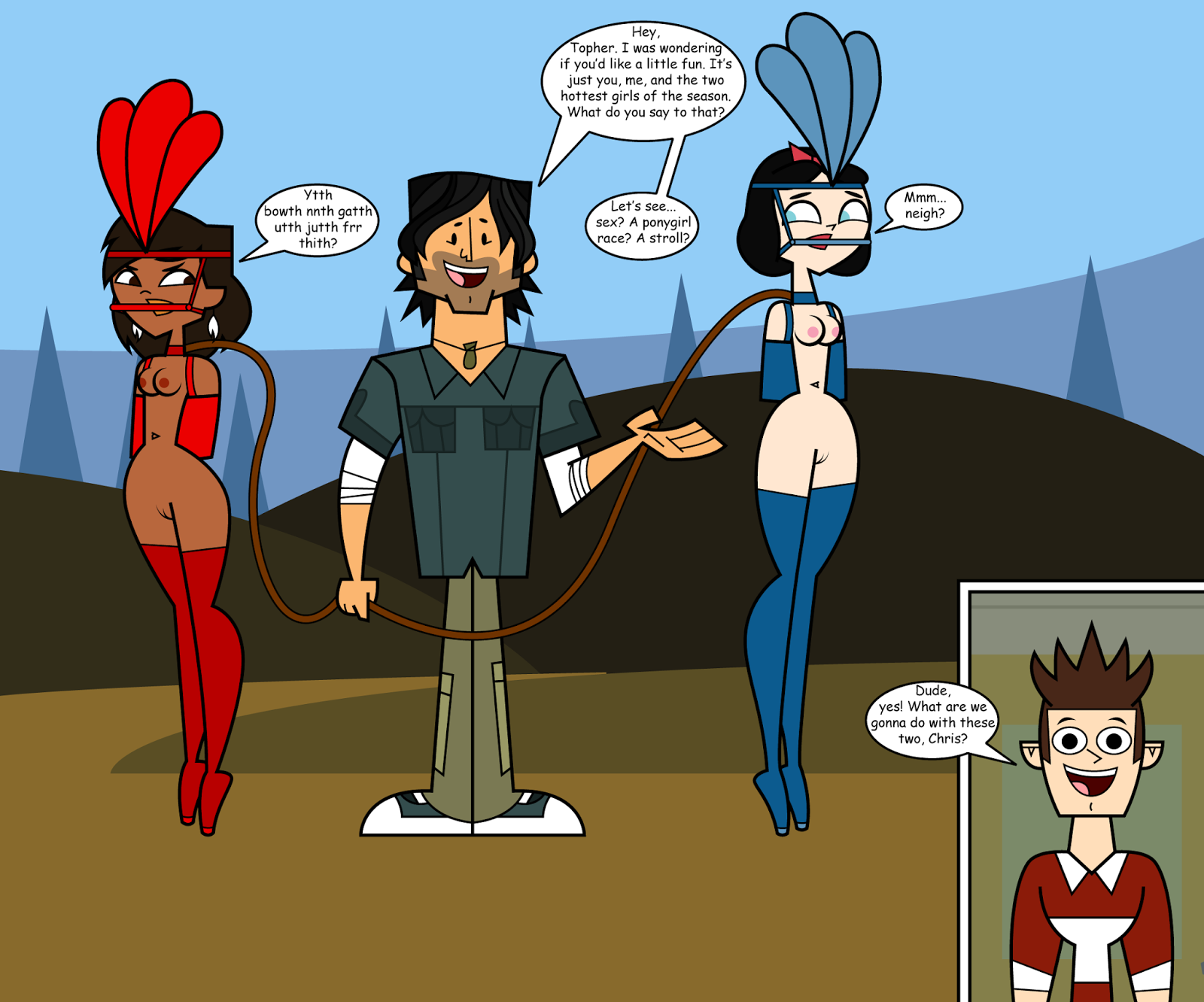 behold the first total drama pahkitew island rule 34 pic
