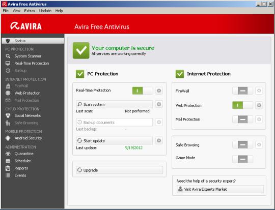 إصدار جديد من برنامج إفيرا انتي فيرس لمكافحة الفيروسات والبرامج الضارة Avira Free Antivirus 14