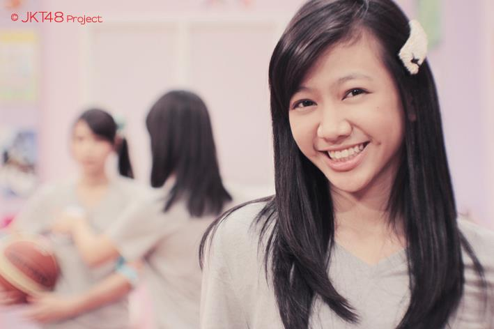 Cute smile on JKT48 school