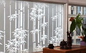 Ahli kaca film gedung dekoratif