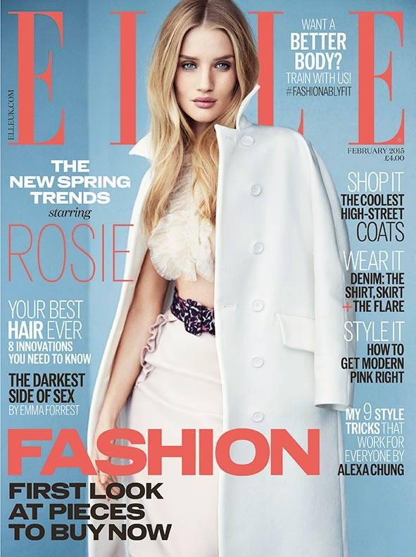 Rosie Huntington-Whiteley by Kai Z Feng for Elle UK, February 2015