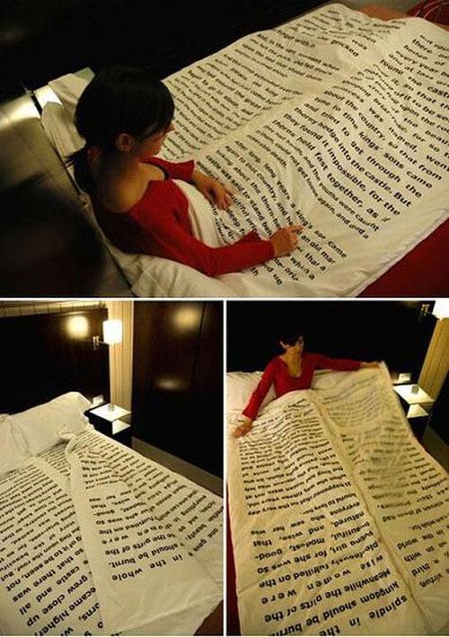 leitura na cama hora de dormir