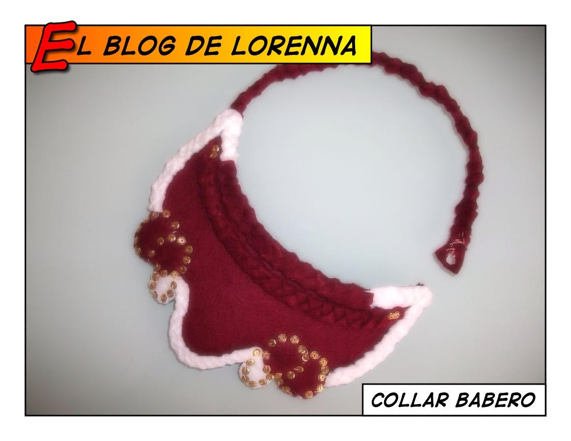El blog de Lorenna: DIY collar babero fieltro