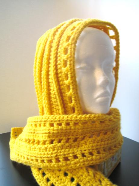 Free Crochet Patterns For Beginners : Beginner+Hooded+Scarf++Crochet+Pattern161.JPG