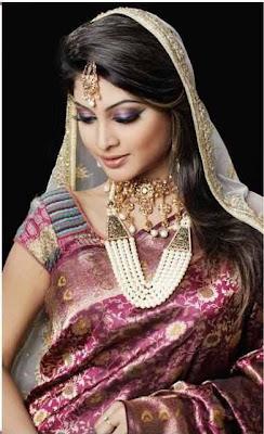 colorfull  wedding  silk saree