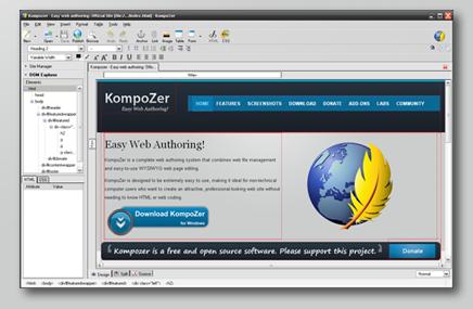 Bluegriffon y Kompozer 2 aplicaciones de software libre para desarrollar páginas web al estilo de Dreamweaver