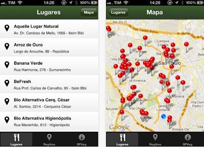 SP Veg - App de iPhone que te ajuda a encontrar restaurantes vegetarianos em São Paulo