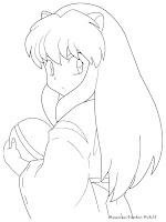 Gambar Sketsa Inuyasha Kecil Untuk Diwarnai