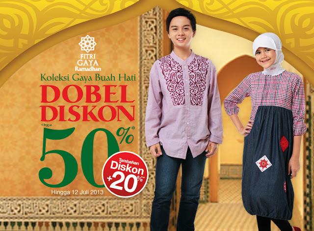 Promo Harian Matahari Terbaru Double Discount 50% + 20% Berlaku s.d. 12 Juli 2013
