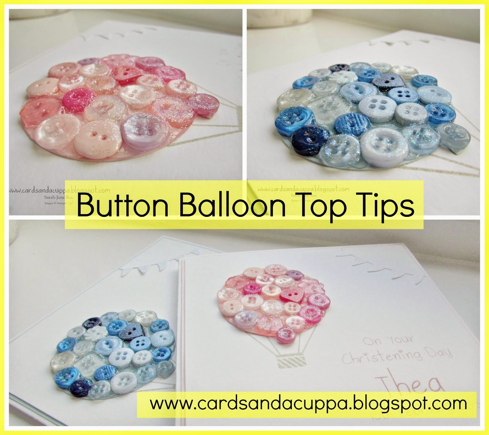Making a Button Balloon using Celebrate Today, Top Tips