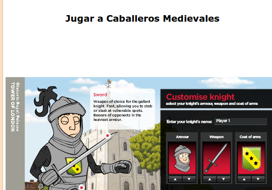 http://www.pequered.com/juego-caballeros-medievales/