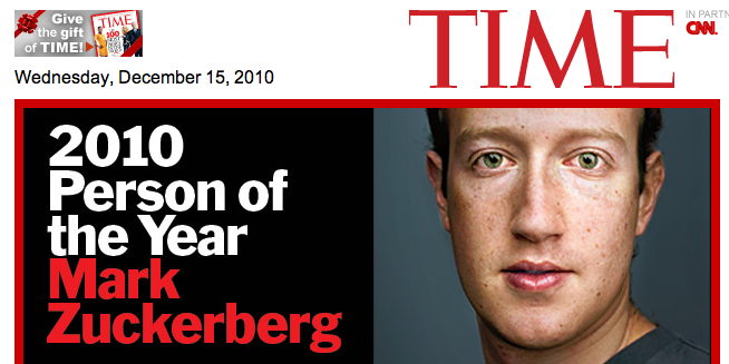 Person of the Year 2010: Mark Zuckerberg