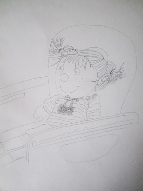 рисунок куклы - подражание Матиссу
