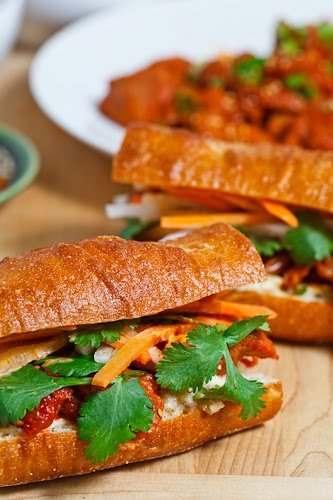 Spicy Pork Bulgogi Banh Mi on Closet Cooking