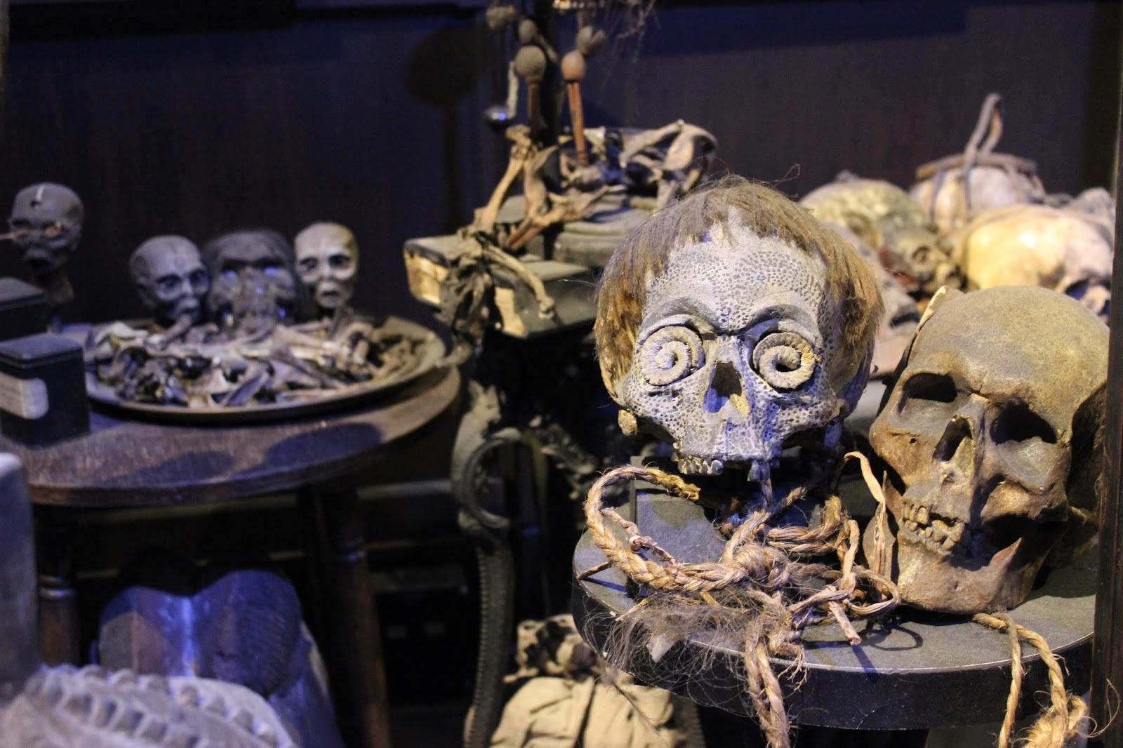 Harry Potter studio tour london skulls