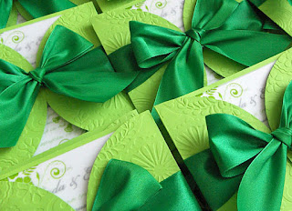 The Dazzling Green Wedding Invitations