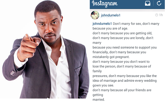 John Dumelo on Why You Should and Should not Get Married chiomaandy.com