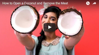 how to open a coconut video
