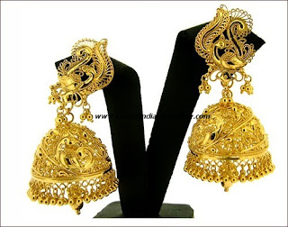 plane gold simple jhumka