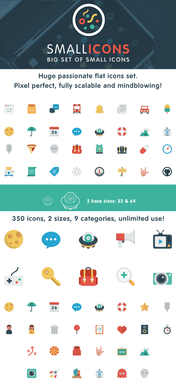 Smallicons — flat icons set
