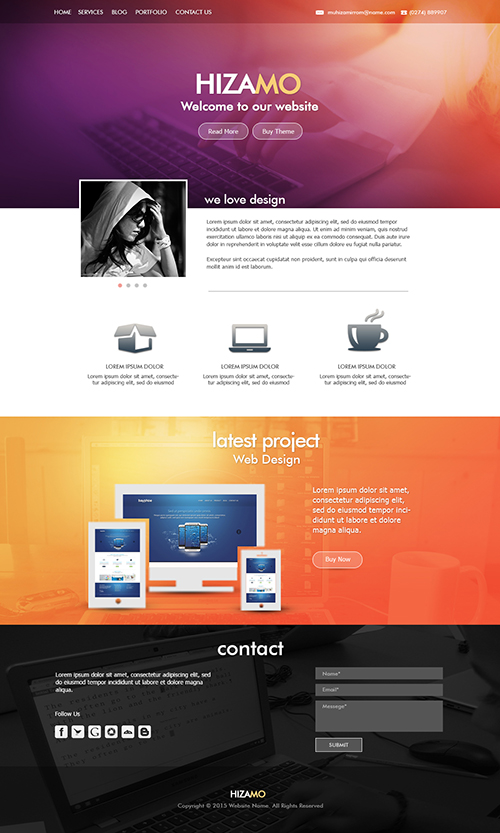 Design a Hizamo Portfolio Website In Photoshop