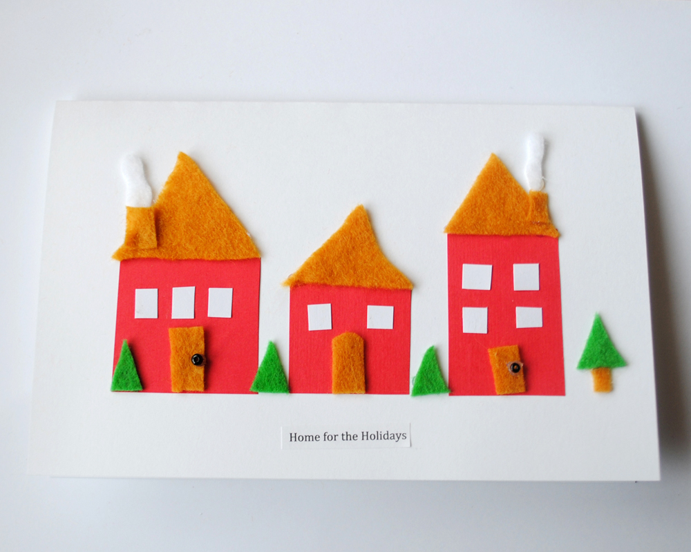 Peachy Cheek Making Holiday Cards Using Paper And Felt