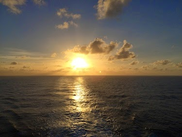 Chuck and Lori's Travel Blog - Sunset or Sunrise from the Norwegian Epic