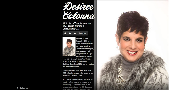 Desiree Colonna, Chief Executive Officer (CEO) of Bella Web Design, Inc. in Atlanta, Georgia