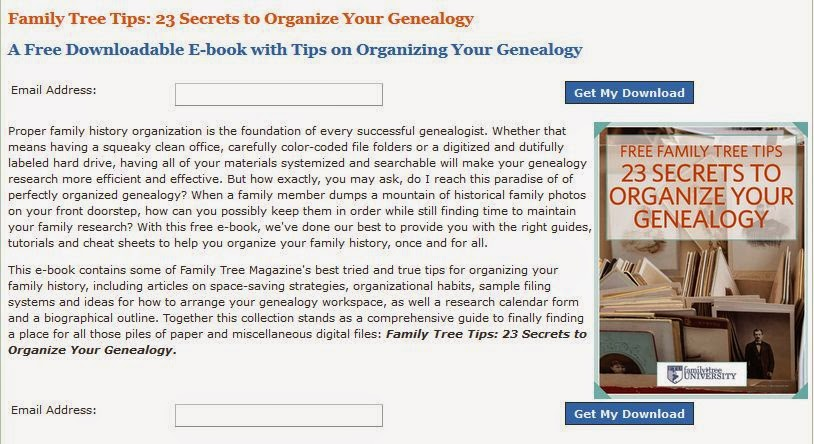 http://www.familytreemagazine.com/family-tree-tips-23-secrets-to-organize-your-genealogy