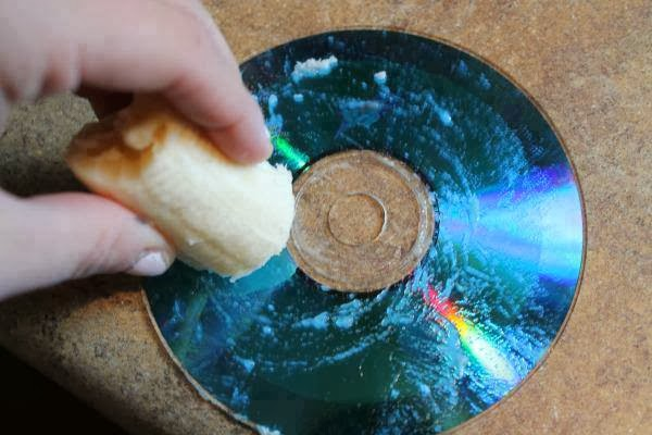 How to fix a scratched DVD with a banana?