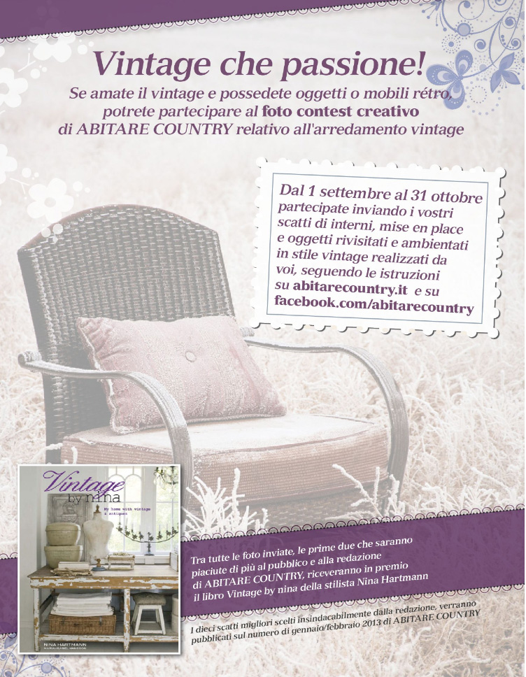 Vintage K Che sponsored post abitare country contest libri quot vintage by quot in palio home shabby home