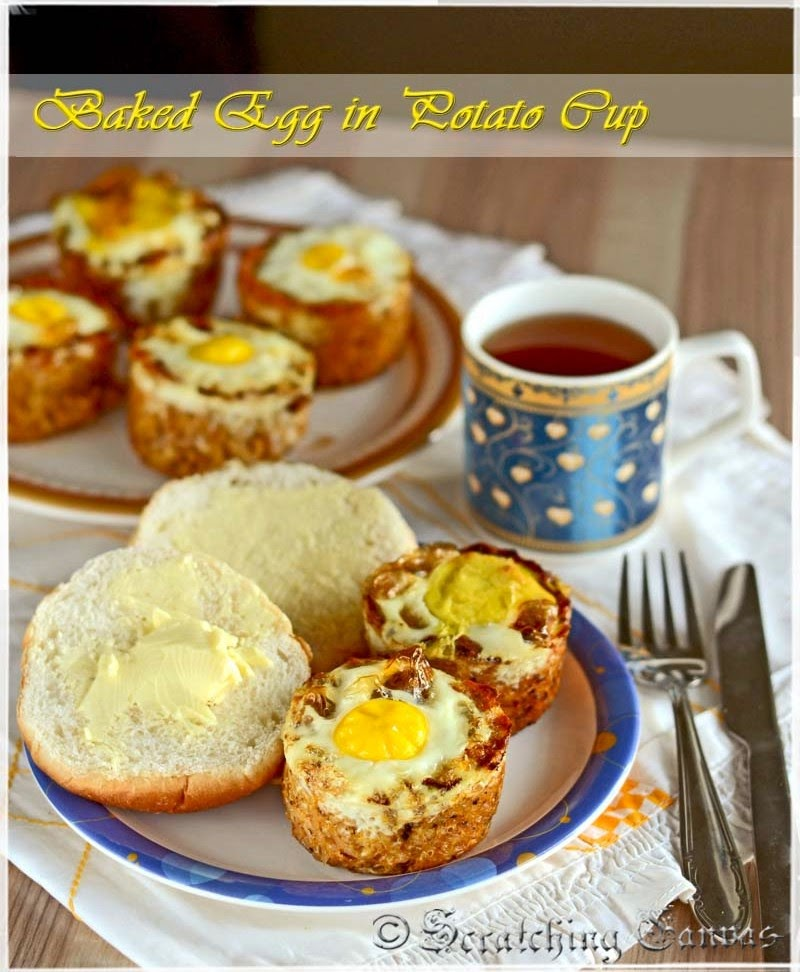 Baked Egg in Cheesy Cup
