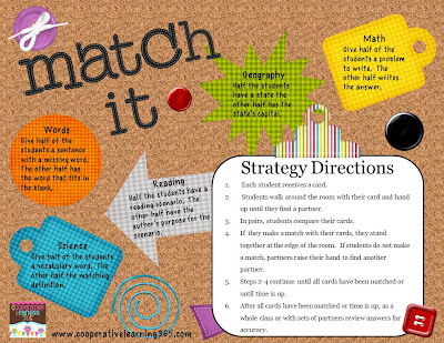 , Match It ~ A Cooperative Learning Strategy