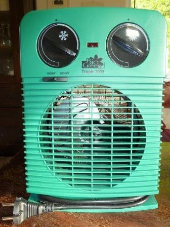 Drivhusvarmer med termostat