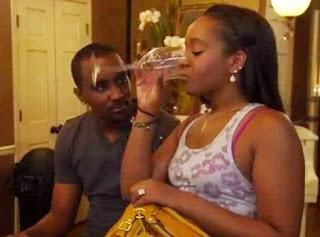 Kristina drinking