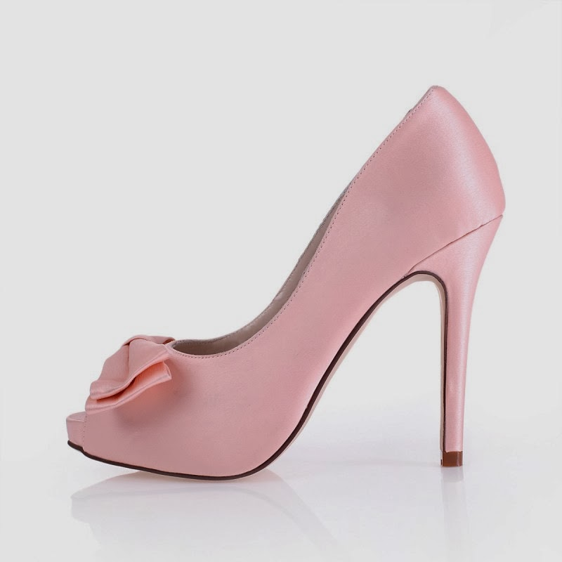 pink high heels wedding