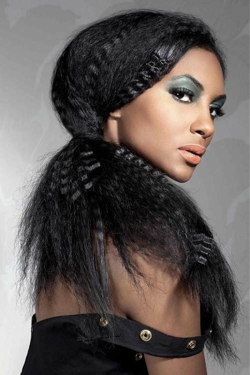 Long Curly Hairstyles for Black Women with Long Faces