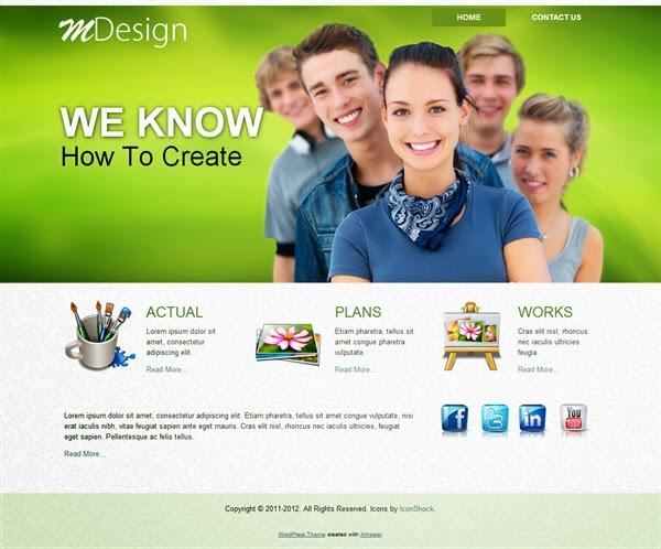 MDesign - Free Wordpress Theme