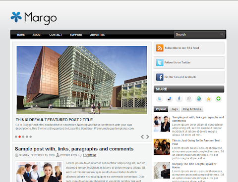 Margo Blogger Theme